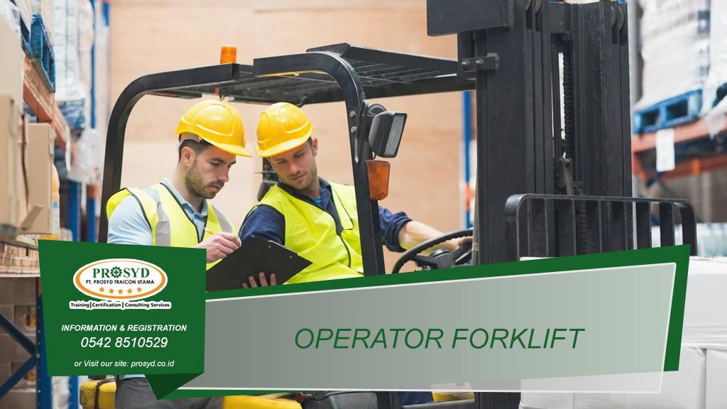 Training K3 Operator Forklift Balikpapan samarinda makassar bontang pontianak palangkaraya banjarmasin berau tarakan batu kajang sorowako sangatta