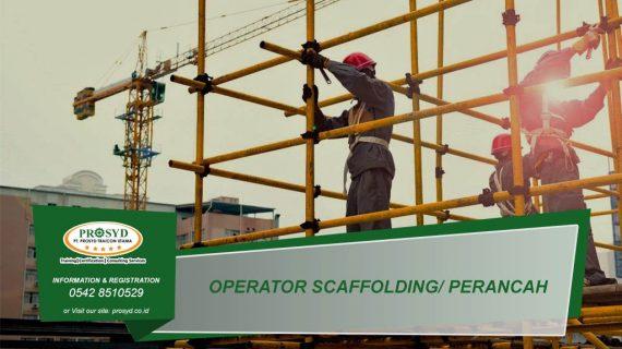 Operator Scaffolding atau Perancah
